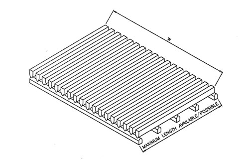 Wedge Wire Screen with Flat Support