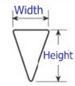 Support Profile Wire, with Width and Height