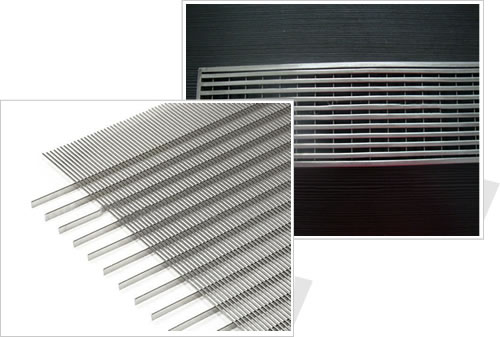 Wedge Wire Grilles Architectural Mesh Decorative Cladding
